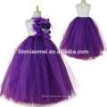 2017 new design princess tutu dress handmade ball gown floor length floral puffy tutu dress for girls