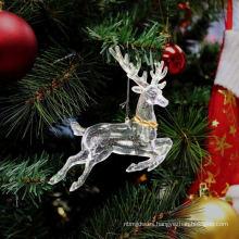 Decoración de la Navidad de la forma del ángel del brillo plástico
