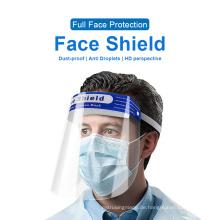 Einweg-PET-Gesichtsschutzvisiere aus Kunststoff