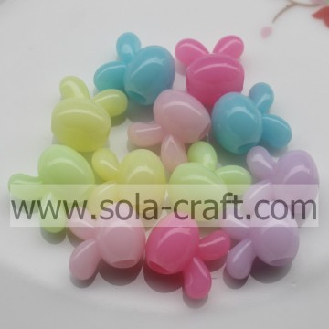 Acrylic Lovely Rabbit Shapes Beads with the Vivid Jelly Style