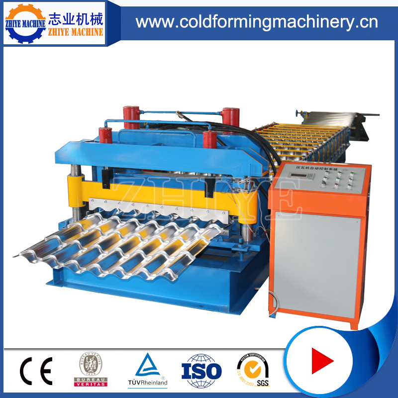 Step Tile Rolling Machinery Galvanized Steel Roofsheet Metal Rollers Machine
