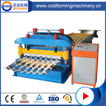 Trapazoidal Glazed Steel Tile Roof Forming Machine