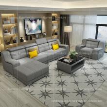 Ensembles modernes de sofa de tissu de tapisserie d'ameublement de conception unique