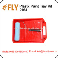 red plastic Paint Tray set