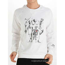 Cool Skull Design Moda Cotton Custom Men manga comprida T-shirt