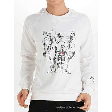 Cooles Schädel-Entwurfs-Art- und Weisebaumwollt-Gewohnheits-Mann-langes Hülsen-T-Shirt