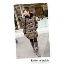 Down-filled damas invierno burbuja chaquetas