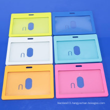High quality colored hard plastic ID card holder