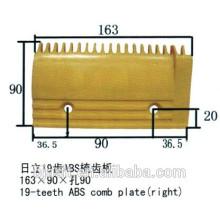 19 Zähne ABS, Rolltreppe Kunststoff Kammplatte für Rolltreppen Teile