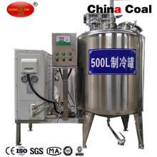 Tanque de enfriamiento de leche a granel vertical de acero inoxidable para el almacenamiento de leche