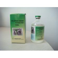 Inyección de diclofenaco sódico al 5% para animales