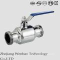 Válvula de bola sanitaria 2PC con los extremos de la abrazadera para el agua portátil