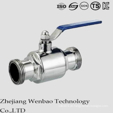 Válvula de esfera de rosca macho sanitária média 2PC para água