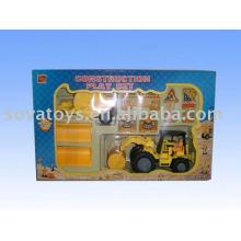 Free wheel construção tractor trailer toy trucks