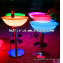 Fresh android smart control color changing rechargeable factory direct sale bar furniture with glass