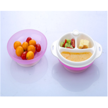 Bayi PP pinggan mangkuk Double Layer Heat Resistant Bowl