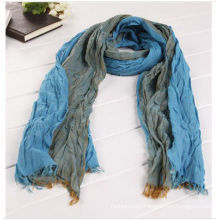 Yarn-dyed men's crinkle scarf cotton