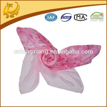 Custome New Design Wholesale Casual 100% Silk Feeling Comfortable Plain Chiffon Scarves
