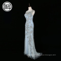 Custom made bordado ocidental formal vestido de noite atacado