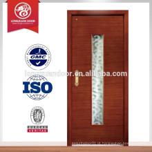 Porta de sala de apartamentos em madeira de estilo francês, porta de vidro interior, porta do apartamento