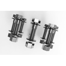 Titanium hex bolt with nuts and washers