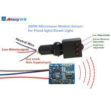 ON OFF Sensor de movimento por radar de microondas