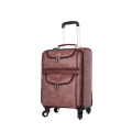 Novo exclusivo 4 rodas carry-on bagagem hardside PU