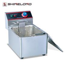 Friteuse commerciale commerciale d'acier inoxydable de 1-réservoir et de 1-panier Friteuse profonde d'équipement de restaurant