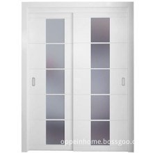 White Interior Sliding Doors with Glass