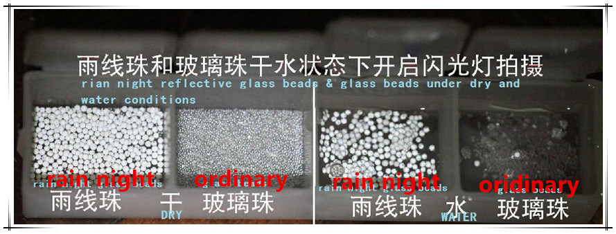 high reflective rain night glass beads for road marking