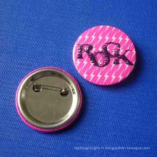 Badge Rock Button, broche en métal personnalisée (GZHY-TB-007)