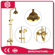 full set shower faucet gold bathroom shower sets