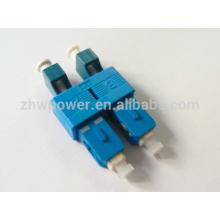 LC / UPC гнездо для SC / UPC Мужской одномодовый двухшпиндельный пластиковый оптоволоконный адаптер