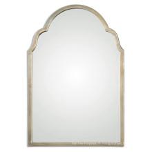 Miroir de mur encadré par métal argenté fini par ventes chaudes pour des décorations à la maison