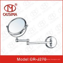 Miroir de maquillage mobile pliable double face