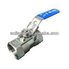 """Robinet à bille en acier inoxydable 316 1PC 1"""" avec dispositif de verrouillage"""
