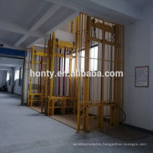Safety and stability warehouse hydraulic vertical cargo motorized air lift platform