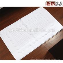100% algodão excelente absorvente de água tecido Jacquard Hotel Bath Mat / toalha de chão