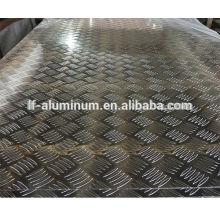 Los precios de 6 mm de espesor antideslizante de aluminio / placa de metal de aluminio banda de rodadura