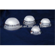 Cúpula blanco cosméticos botellas de plástico acrílico para envases cosméticos 5ml 15ml 30ml 50ml