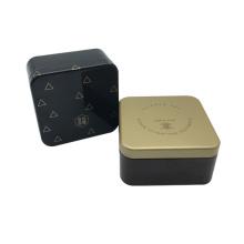Caja cuadrada al por mayor del chocolate del metal de la forma con la impresión de encargo
