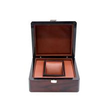 New Design Luxury Wooden Watch Packaging Box With Lock Custom Logo