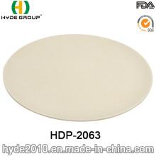 High Quality Eco-Friendly Bamboo Fiber Plate (HDP-2063)