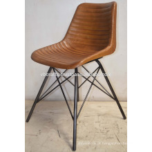 Cadeira de base metálica de metal industrial