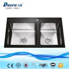 DS 8650A Tiny House Stainless Double Bowl 304 Stain Finish Kitchen Washing Sink On Sale
