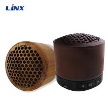 Haut-parleur sans fil à mini dents bleues en bois sans main 2019