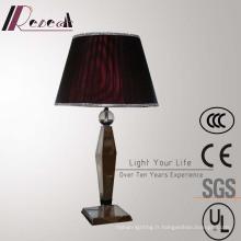 Lampe de table de chevet décorative en soie rouge antique