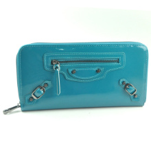 colorful shiny pu leather women wallet