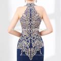 Vestido de noche de alibaba de alta calidad Vestido de noche largo de sexy azul real