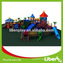 Attrayant grand parc en plastique jeux de structures pour les enfants